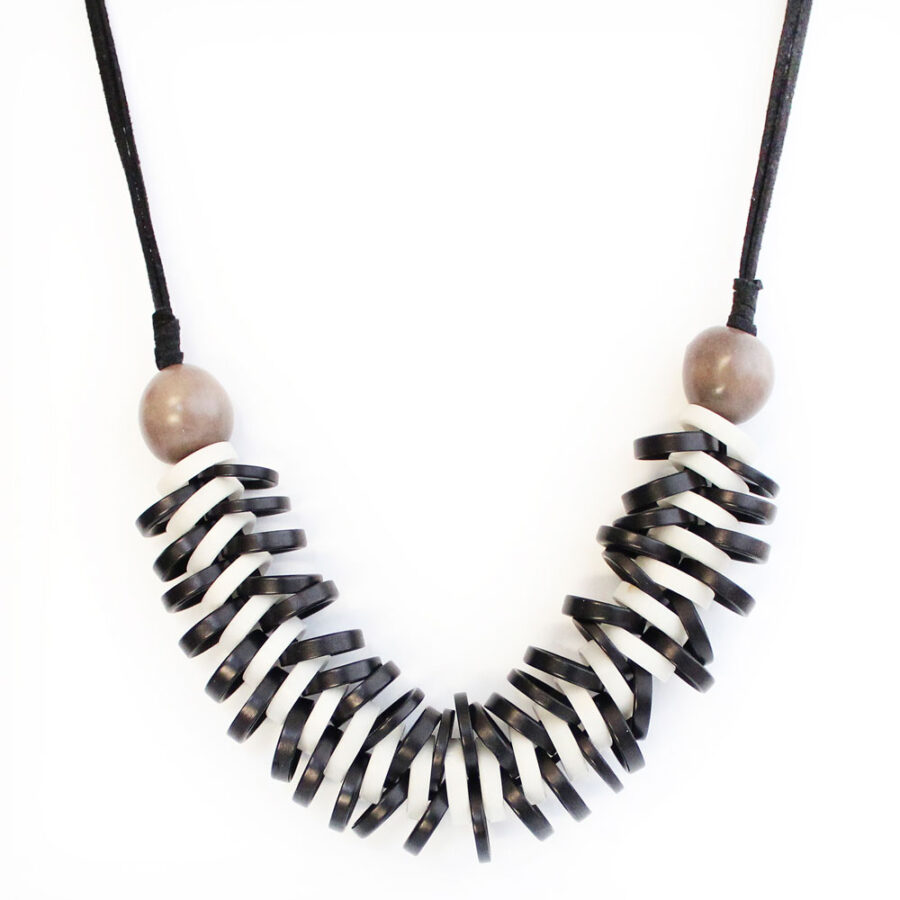 Tagua necklace black ivory