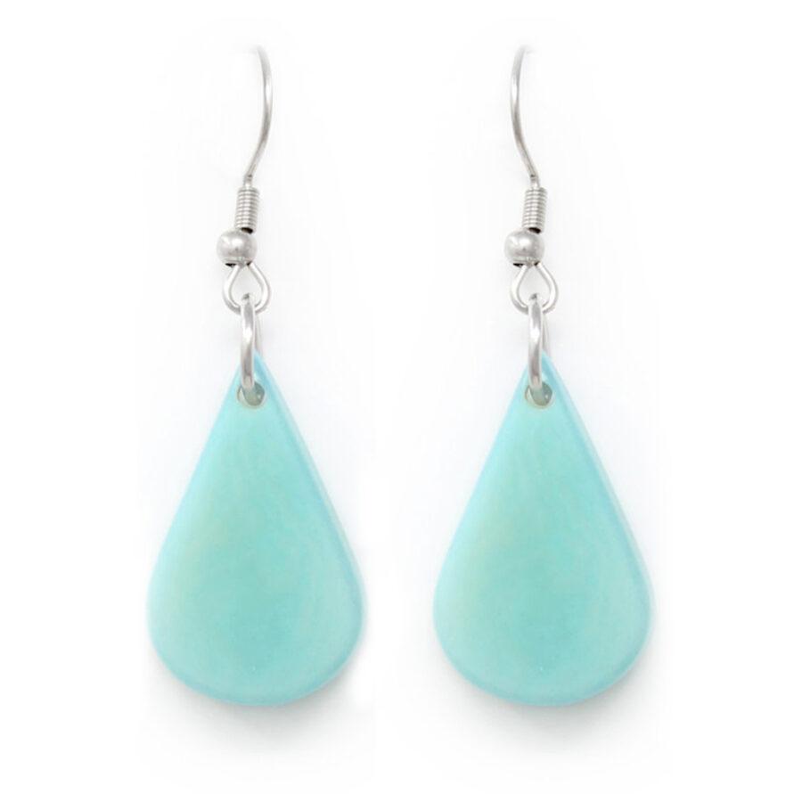 Tagua Earrings Turquoise
